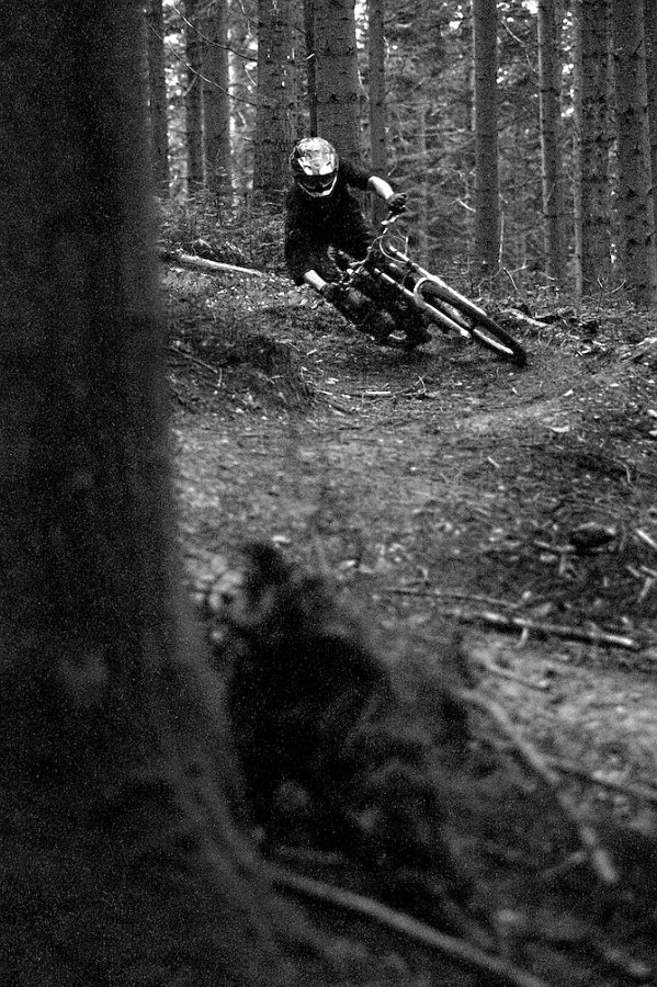 Ash Mullane riding his local tracks down at Cann woods