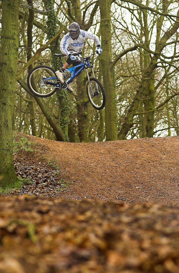 Matt Simmonds whiping it out in Shropshire.