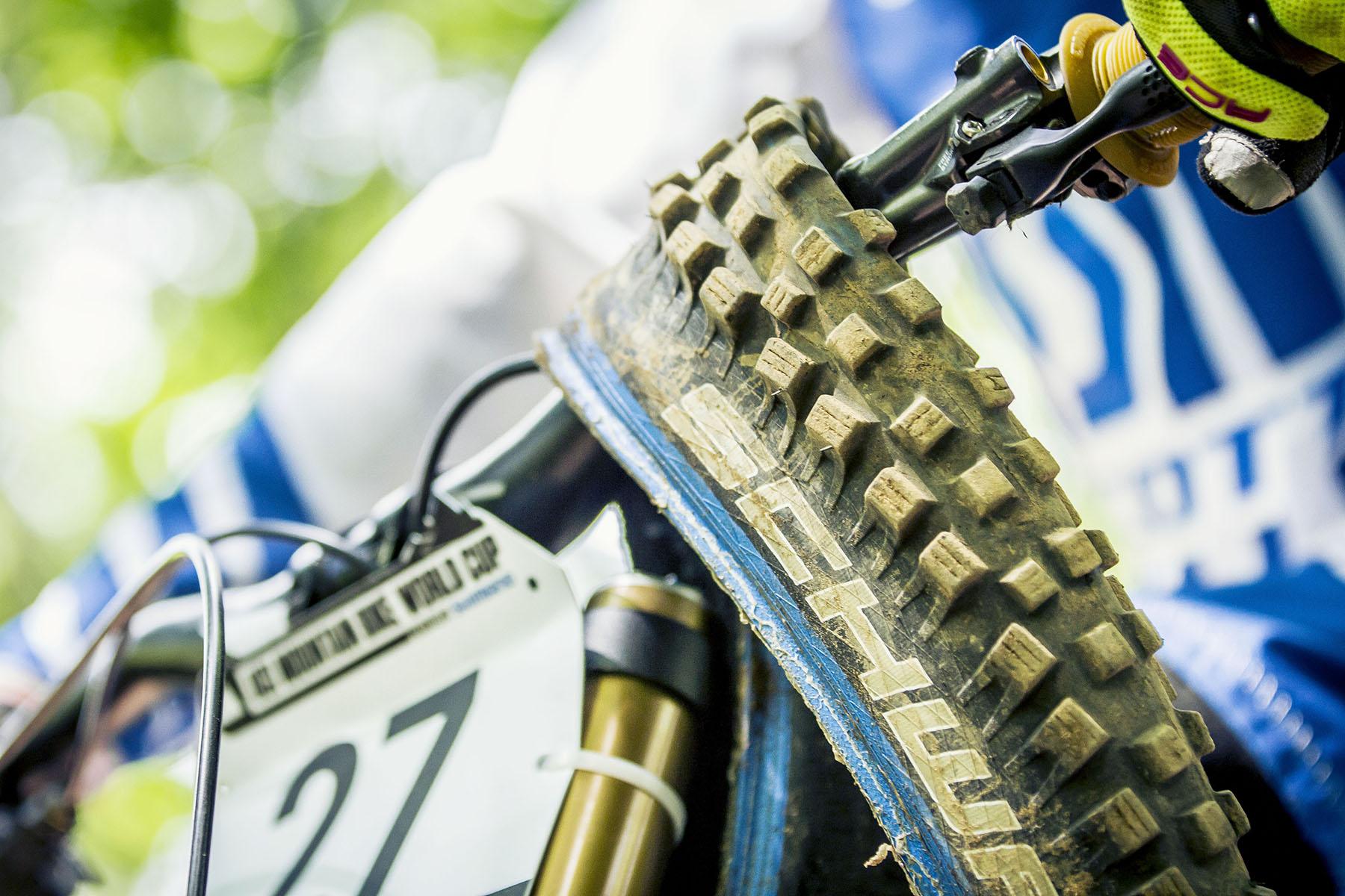 Brendan Fairclough hatte das ganze Wochenende über Trouble mit seinem Bike.