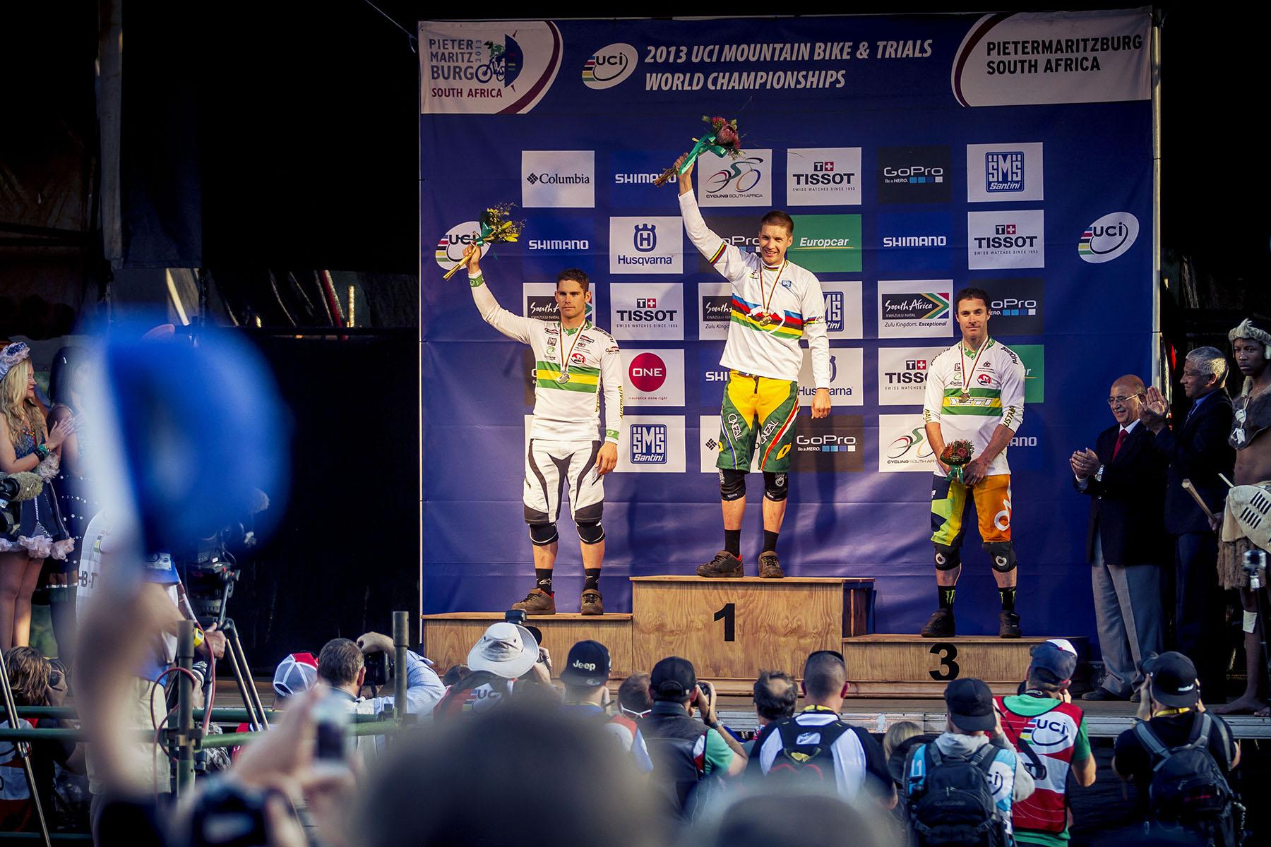 Das Podium der Männer! Minaar im zweiten Jahr in Folge Weltmeister!