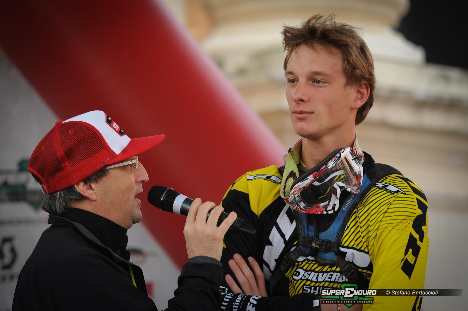 Der erst 16jährige Junior Champion Martin Maes