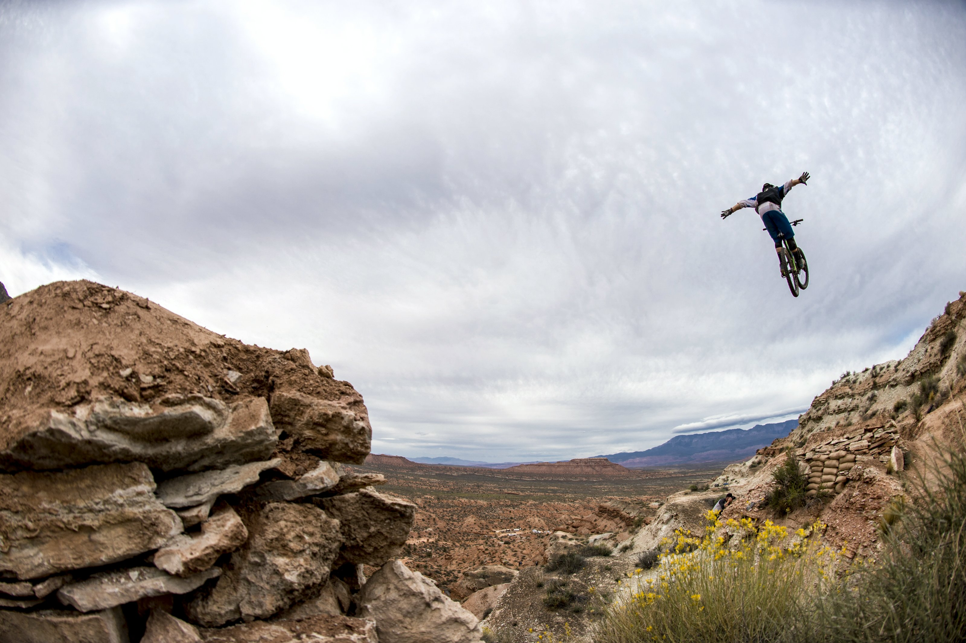 Tom Vansteenbergen jumps at Red Bull Rampage, in Virgin, UT, USA, on 9 October, 2013. // Ian Hylands/Red Bull Content Pool // P-20131010-00001 // Usage for editorial use only // Please go to www.redbullcontentpool.com for further information. //