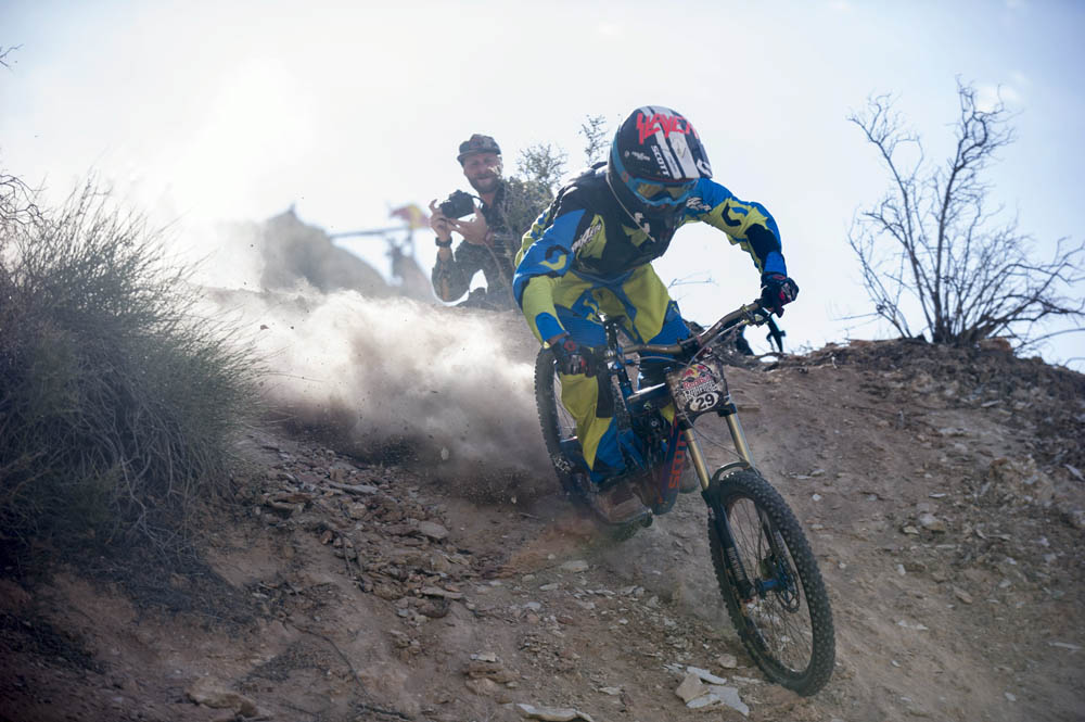 Nico Vink rides during finals at Red Bull Rampage, in Virgin, UT, USA, on 13 October, 2013. // Ian Hylands/Red Bull Content Pool // P-20131014-00019 // Usage for editorial use only // Please go to www.redbullcontentpool.com for further information. //