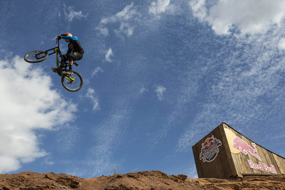 Kyle Strait rides during Red Bull Rampage Finals in Virgin, Utah, USA, on 13 October 2013. // Christian Pondella/Red Bull Content Pool // P-20131014-00033 // Usage for editorial use only // Please go to www.redbullcontentpool.com for further information. //