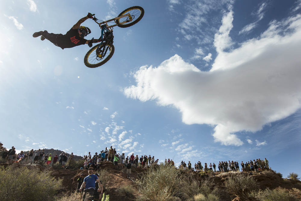 Andreu Lacondaguy rides during Red Bull Rampage Finals in Virgin, Utah, USA, on 13 October 2013. // Christian Pondella/Red Bull Content Pool // P-20131014-00041 // Usage for editorial use only // Please go to www.redbullcontentpool.com for further information. //