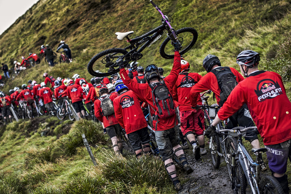 Athletes perform at the Red Bull Foxhunt in Rostrevor, Northern Ireland on October 6 2013.