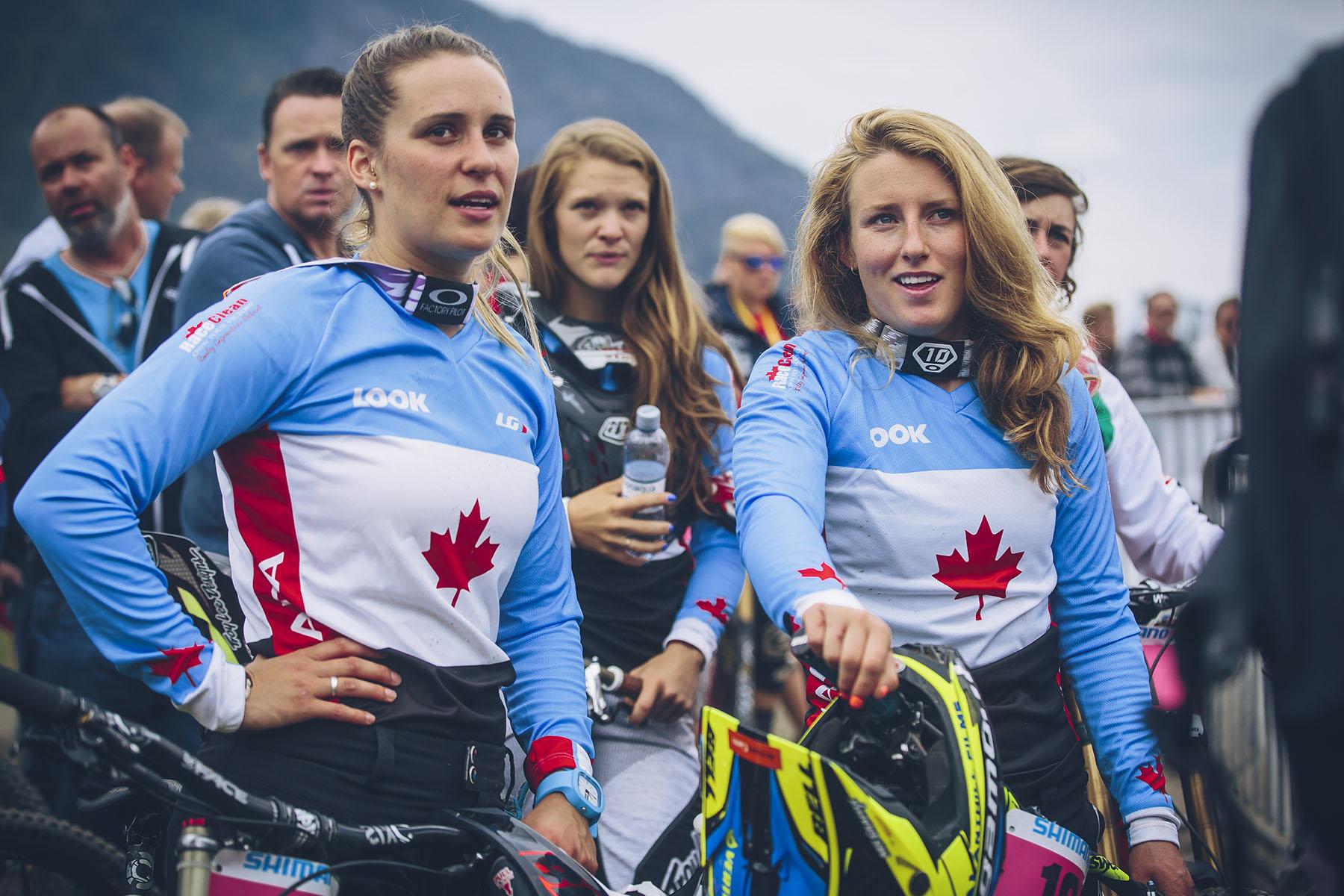 Die Kanadierinnen Micayla Gatto und Casey Brown beenden ihren Lauf auf dem 11. und 12. Platz.