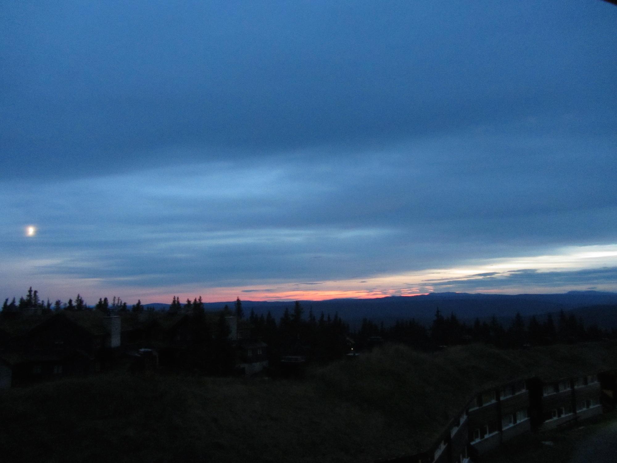 Ein Landschaftsbild muss einfach sein. Sonnenuntergang im Märchenland!