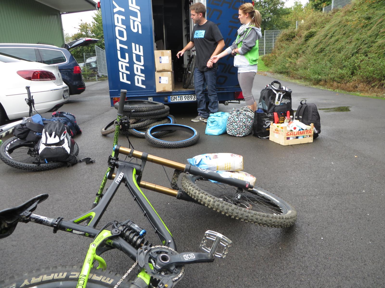 Die Bikes müssen auf jeden Fall auch mit! ©Oliver Fuhrmann