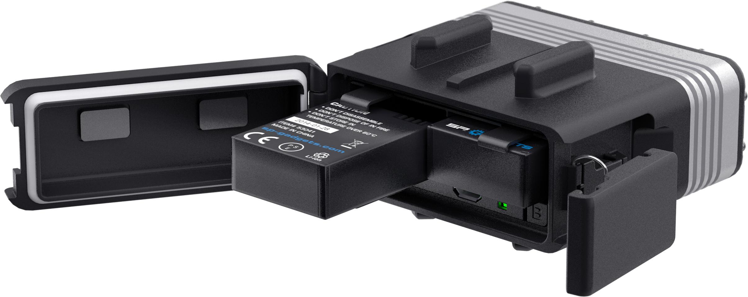 Die Batterien passen auch in die GoPro Hero3/Hero3+