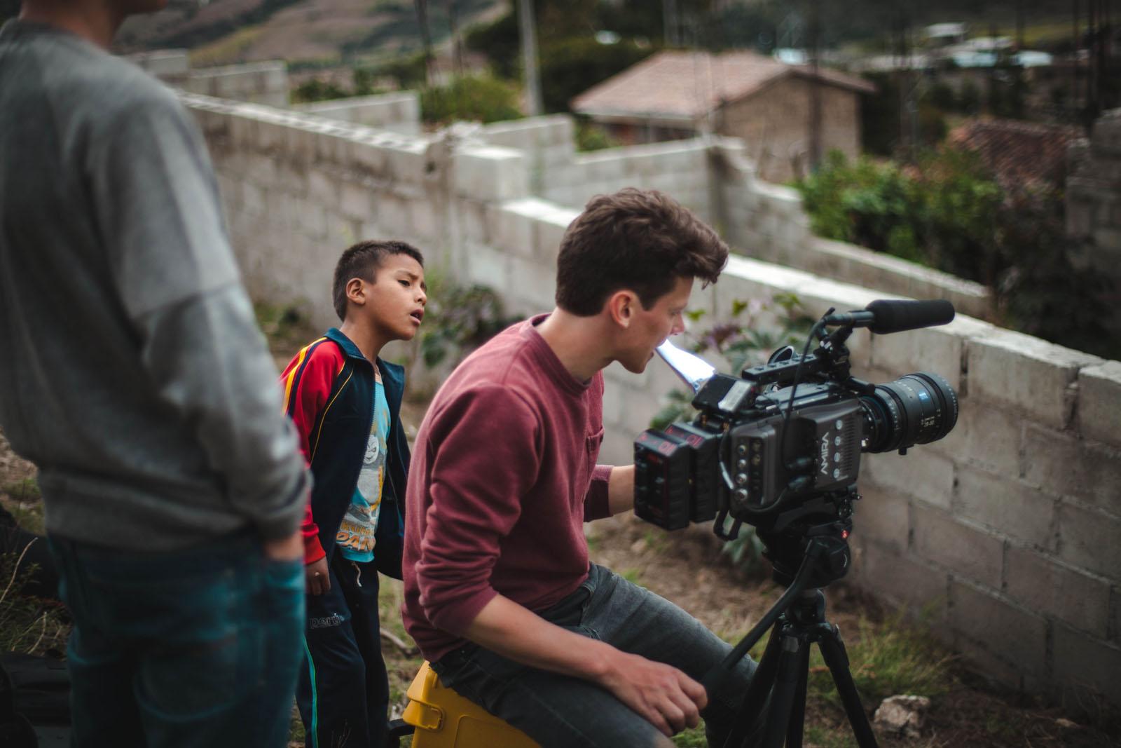 Josua und Hagen sorgten mit ihren Dreharbeiten im Dort für Aufsehen.