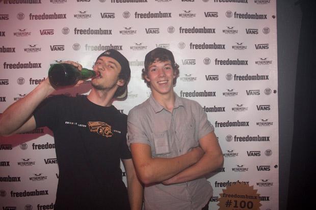 David und Niklas hatten obskure Getränke dabei