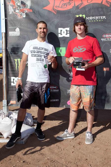 Daniel Tünte (rechts) gewann vor Josh Stead den Best-Trick-Contest; Foto: Chris Dietschy