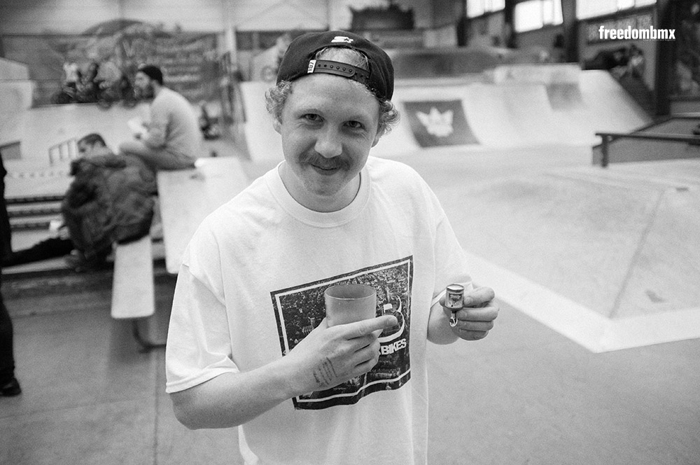 Martin Krüger auf dem We don't care BMX-Contest in der iPunkt-Halle in Hamburg