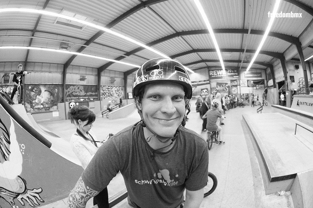 Marcel Profittlich auf dem We don't care BMX-Contest in der iPunkt-Halle in Hamburg