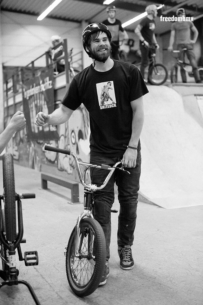 Timo Hildebrandt auf dem We don't care BMX-Contest in der iPunkt-Halle in Hamburg