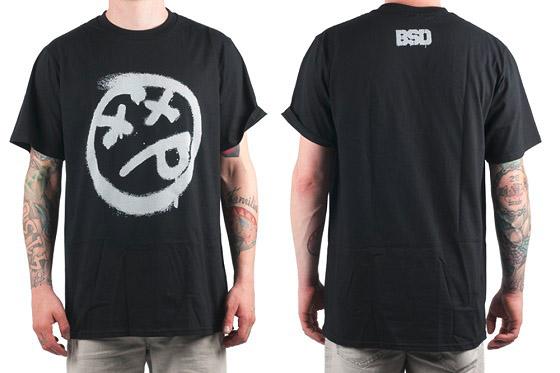 BSD 'Spray Paint Acid Face' Shirt, schwarz, m-xl, 27,95 €