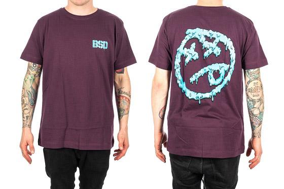 BSD 'Melting Acid Face' Shirt, schwarz, grau oder lila, m-xxl, 27,95 €