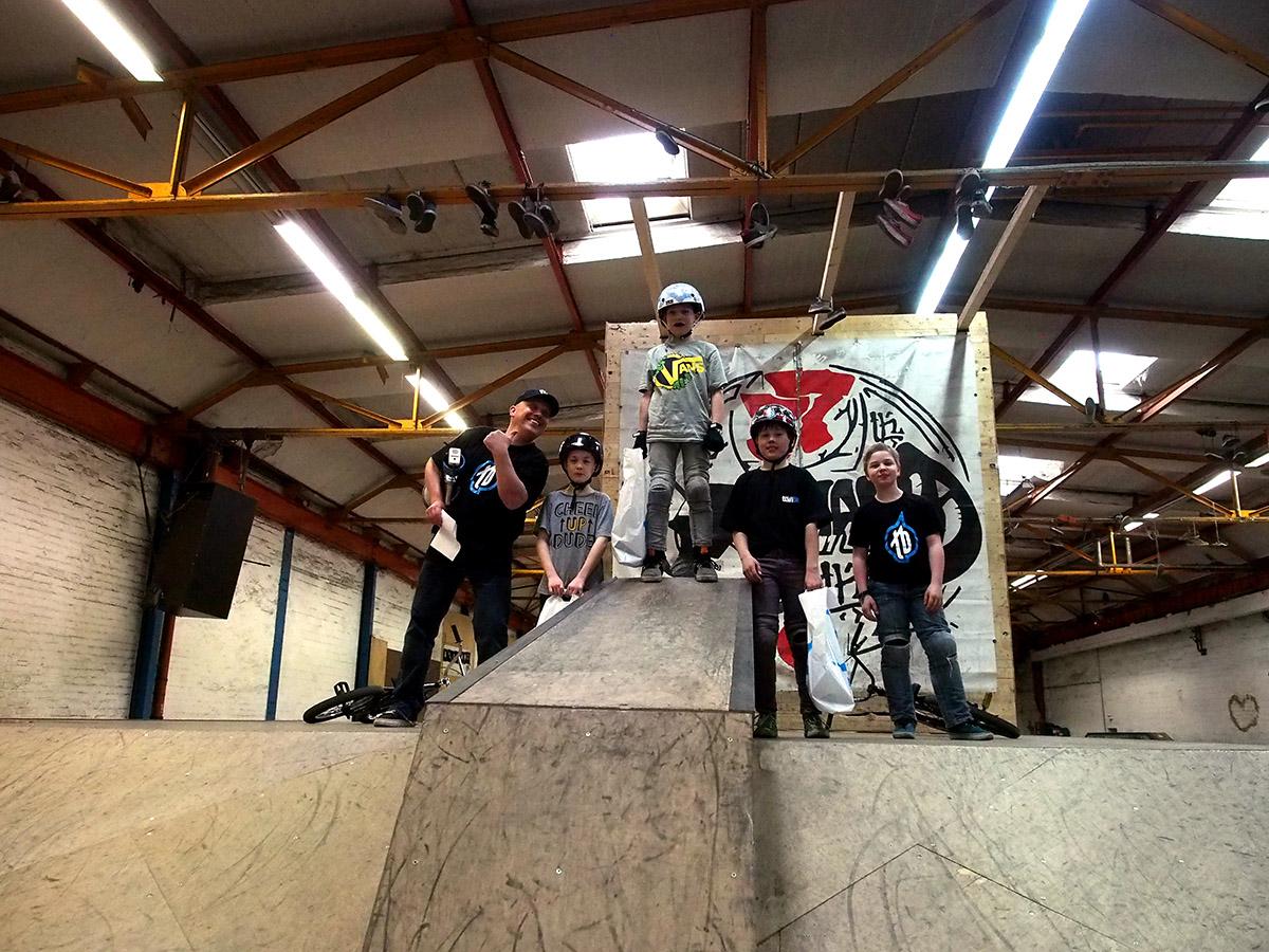 Die Gewinner der Miniklasse (bis 10 Jahre) beim 1. Stopp des New Kids Generation Nachwuchscontests in Braunschweig (v.l.n.r.): Nick Marechal (3.), Olli Mein (1.) und Max Stute (2.)