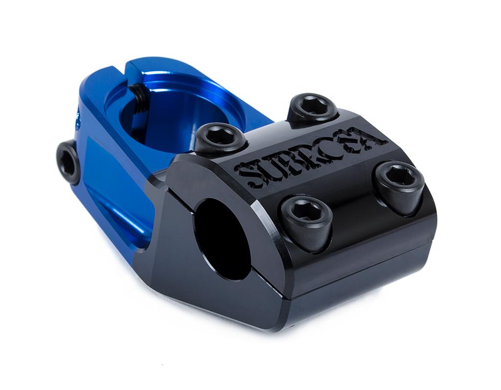 Der Subrosa High Life Uploader bringt deinen Lenker in schwindelerregende Höhen. Vorlauf: 50 mm, Gewicht: 312 g. Farbe: Blue Black Fade