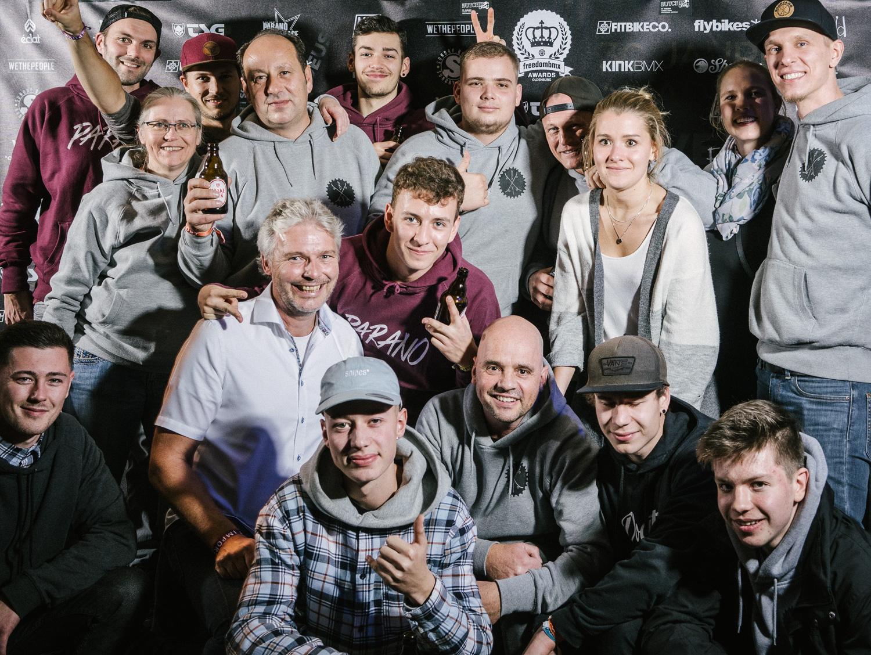 Die großartigen Gastgeber unseres Best-Trick-Contests: das Team der Backyard e. V. Skatehalle Oldenburg