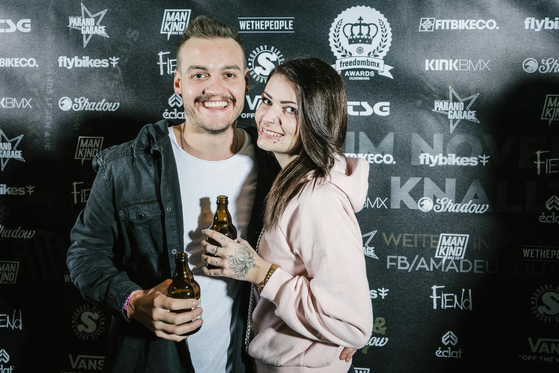 Chris Halbritter und seine Freundin Alexandra Rein hätten den Award für die längste Anreise abgestaubt, aber leider gab es den nicht