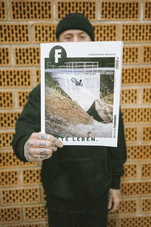 Das Cover von freedombmx Ausgabe 124 noch mal als Close-up