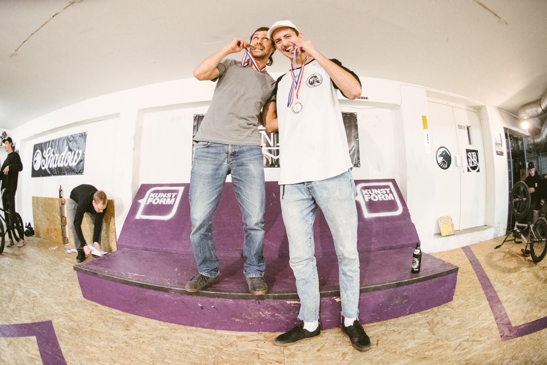 GFC (German Flatland Championship Gesamtranking): 1. Wolfgang Sauter, 2. Markus Schwital, 3. Markus Reich (nicht auf dem Foto)