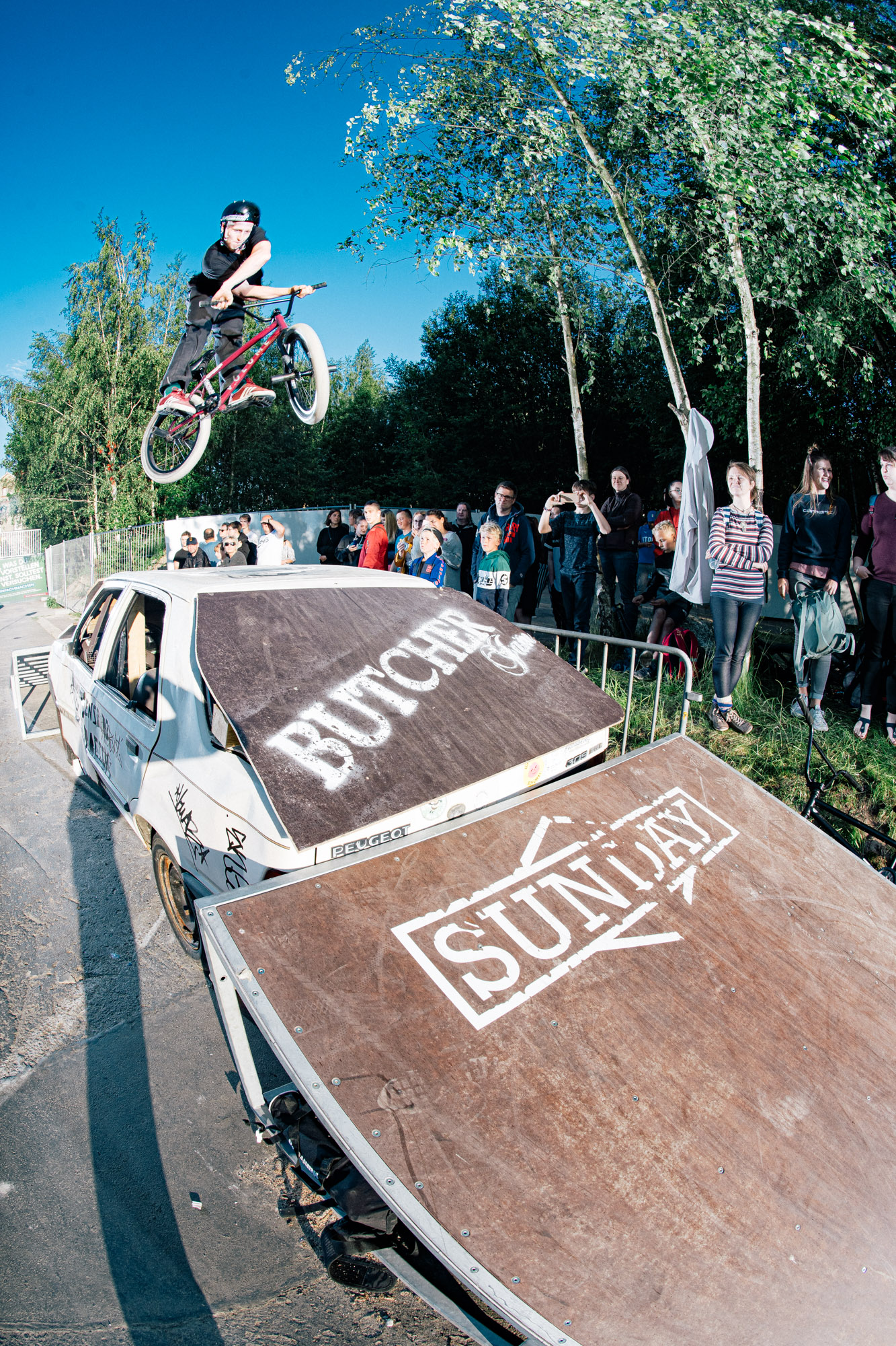 Alex Stinshoff mit einem X-Up direkt aus den 90ern