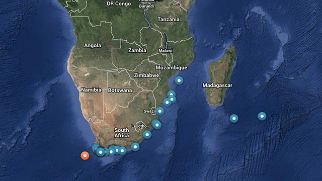 Diese Interaktive Karte Lokalisiert Haie Rund Um Den