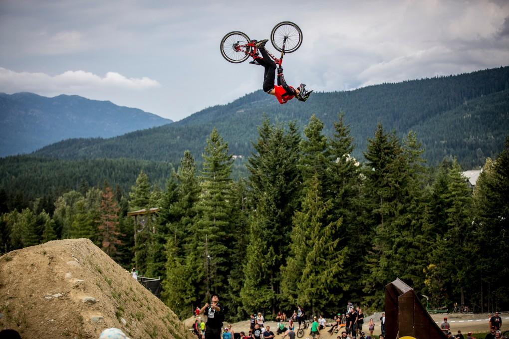 NICE BACKFLIP: Brett Rheeder landete auf Rang 2; Foto: Red Bull