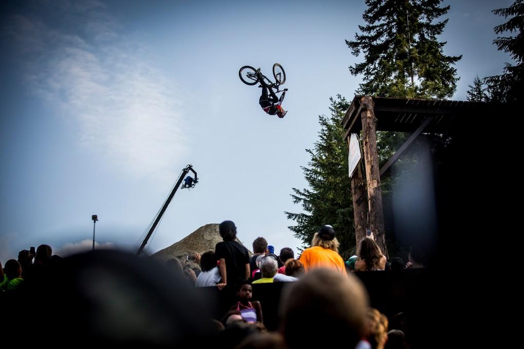 Sieger beim Joyride 2014 auf dem Crankworx Festvial: Brandon Semenuk ; Foto: Red Bull