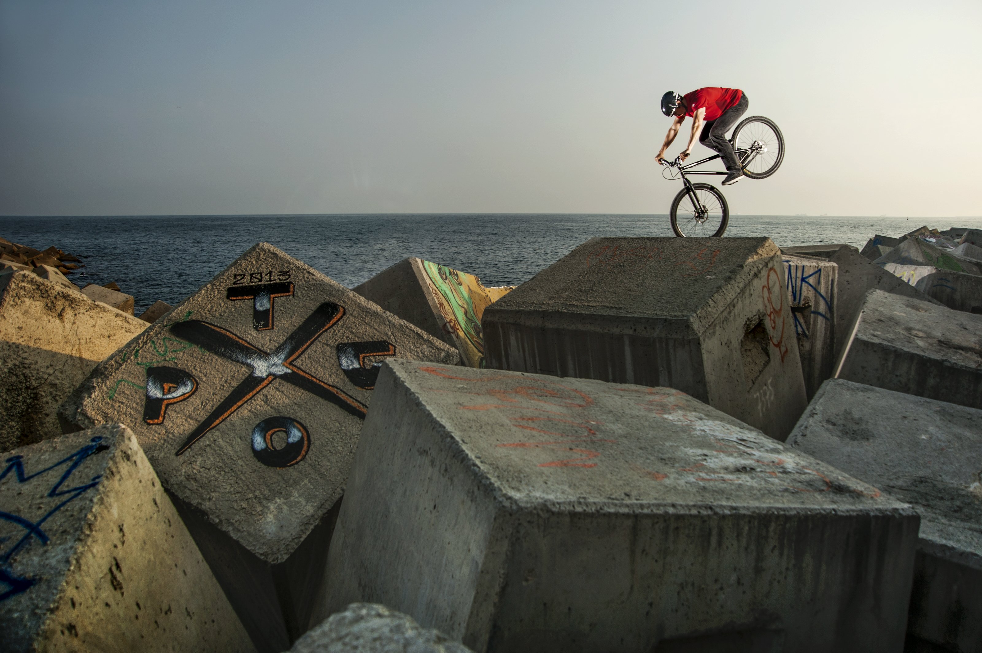 Dominik Raab in Barcelona; Foto: Red Bull