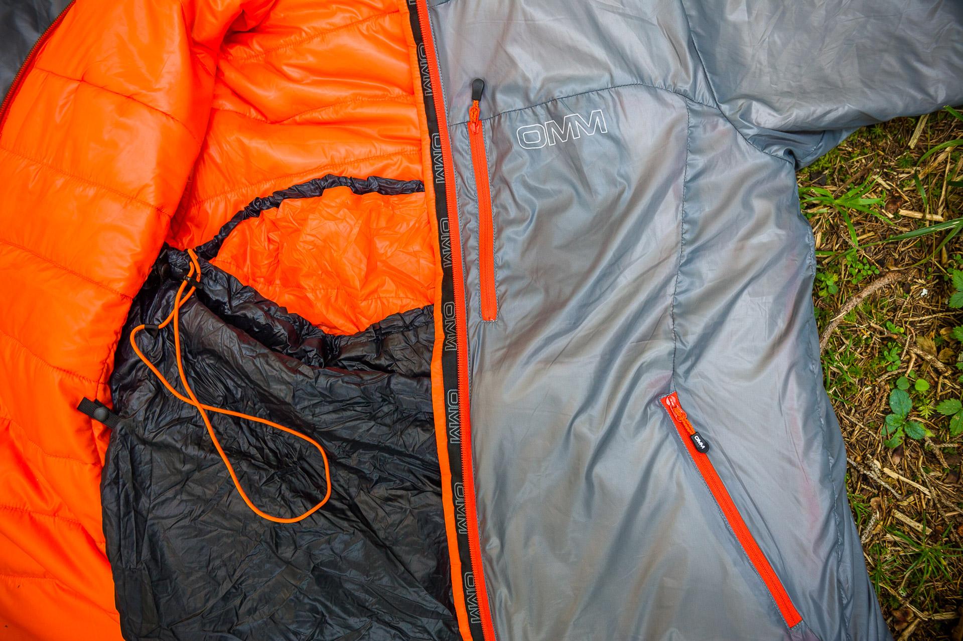 OMM Mountain Raid PA 1.0 Jacke und Schlafsack