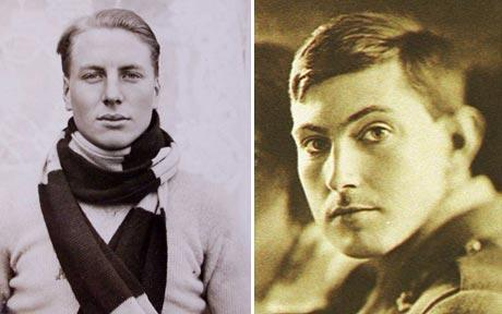 Andrew Irvine (left) and George Mallory (right) wwho may have been the first men to set foot on the summit of Everest.