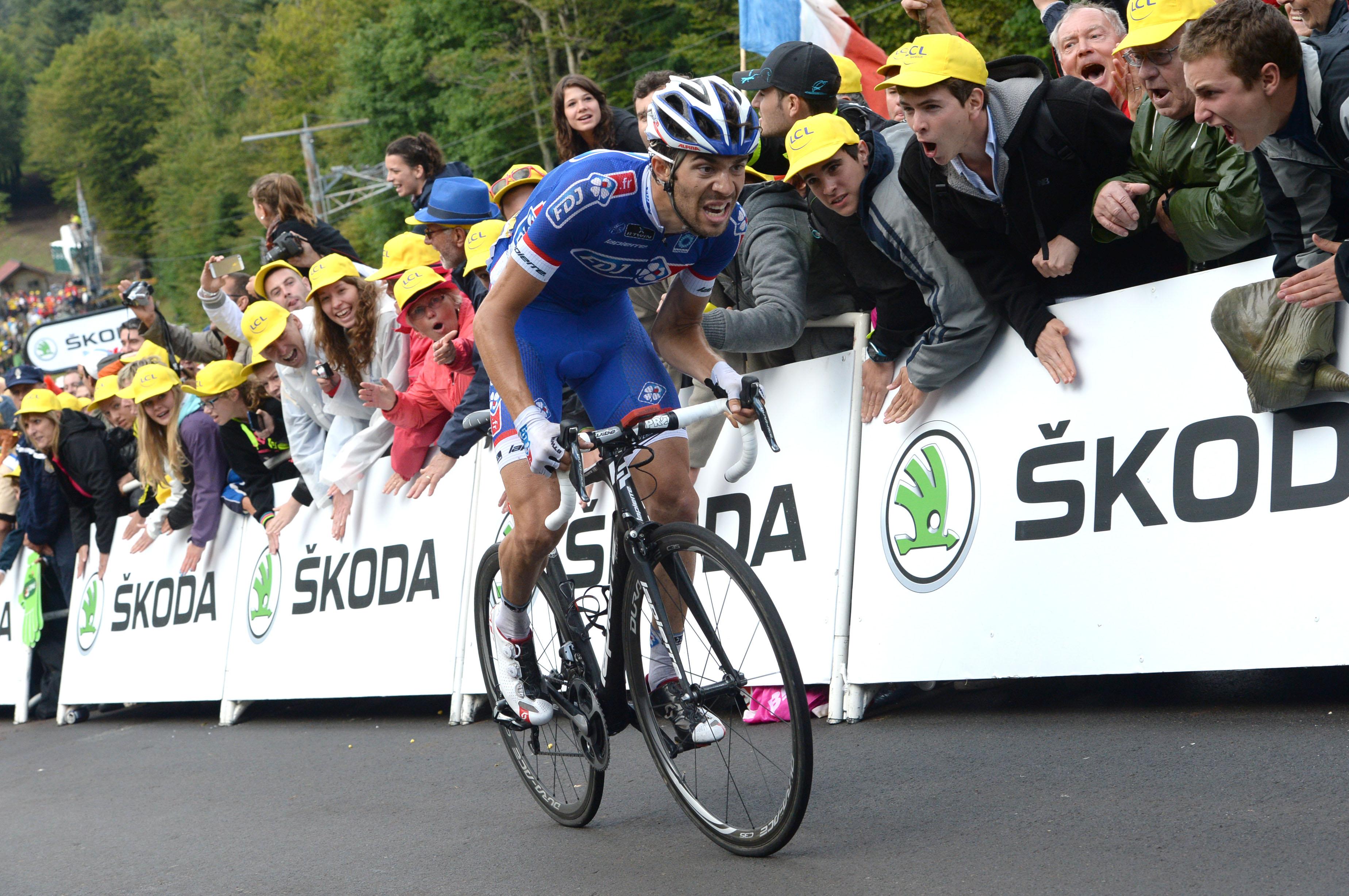 Zielankunft nach der 10. Etappe der Tour. (Foto: Sirotti)