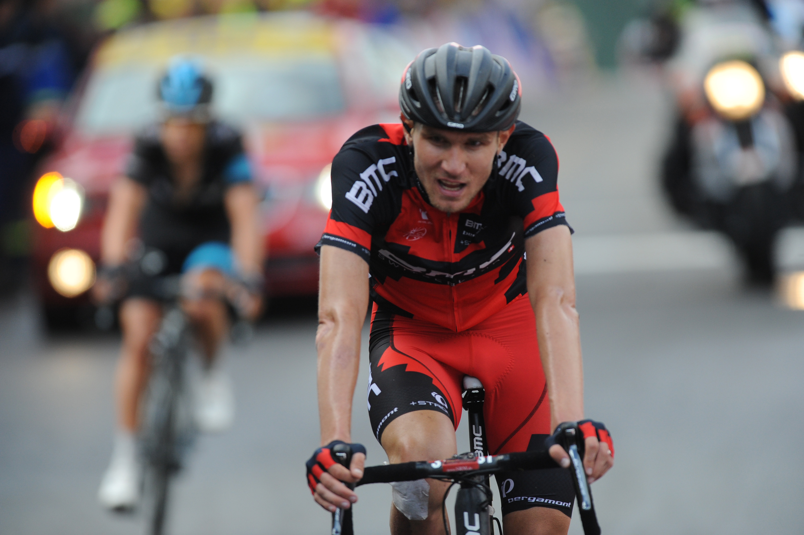 Zielankunft am Ende der 10. Etappe der Tour. (foto: Sirotti)