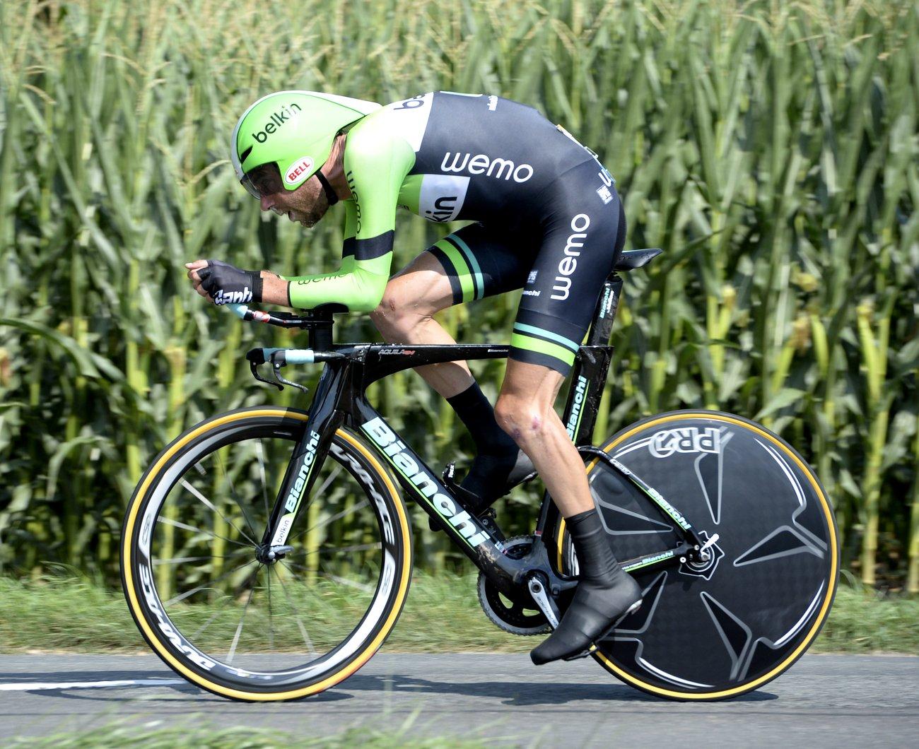 Laurens Ten Dam fuhr das Bianchi Aquila CV auf der Tour 2014 zum ersten Mal. (Bianchi)
