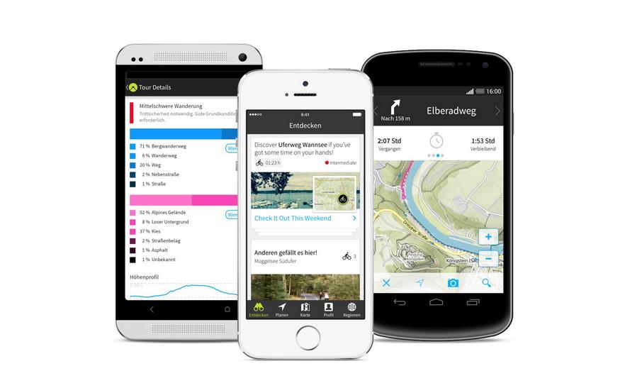 Komoot ist eine Navigationsapp und zeigt bringt die interessante Entdecker-Funktion mit. (Foto: Komoot)