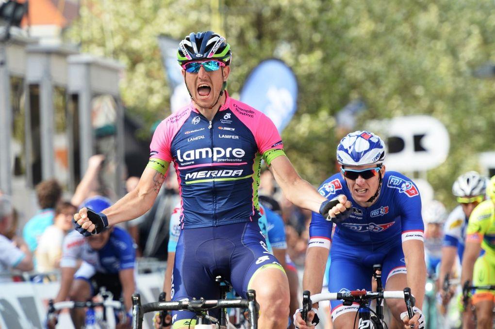 Lampre-Merida ging mit seinem 2015er Trikot erst eine Woche vor der Tour Down Under an die Öffentlichkeit. (Foto: Sirotti)