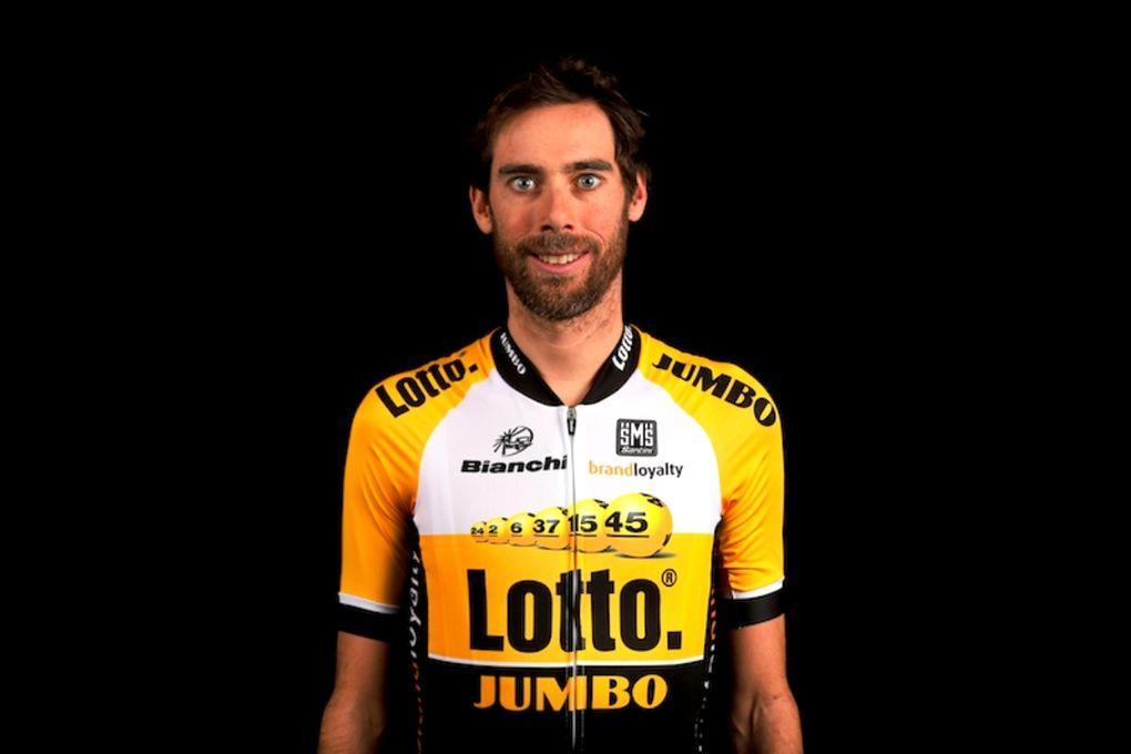 Die neue Kombi vom Team LottoNL-Jumbo zeigt sechs Lotterie-Bälle im Bereich der Brust. (Foto: LottoNL-Jumbo)