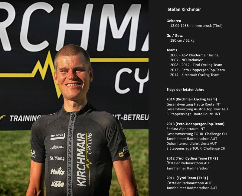 Stefan Kirchmair blickt auf zahlreiche Siege bei den Top-Bergrennen in den Alpen zurück, kann aber auch auf Etappensiege seiner Pro Continental Karriere verweisen.