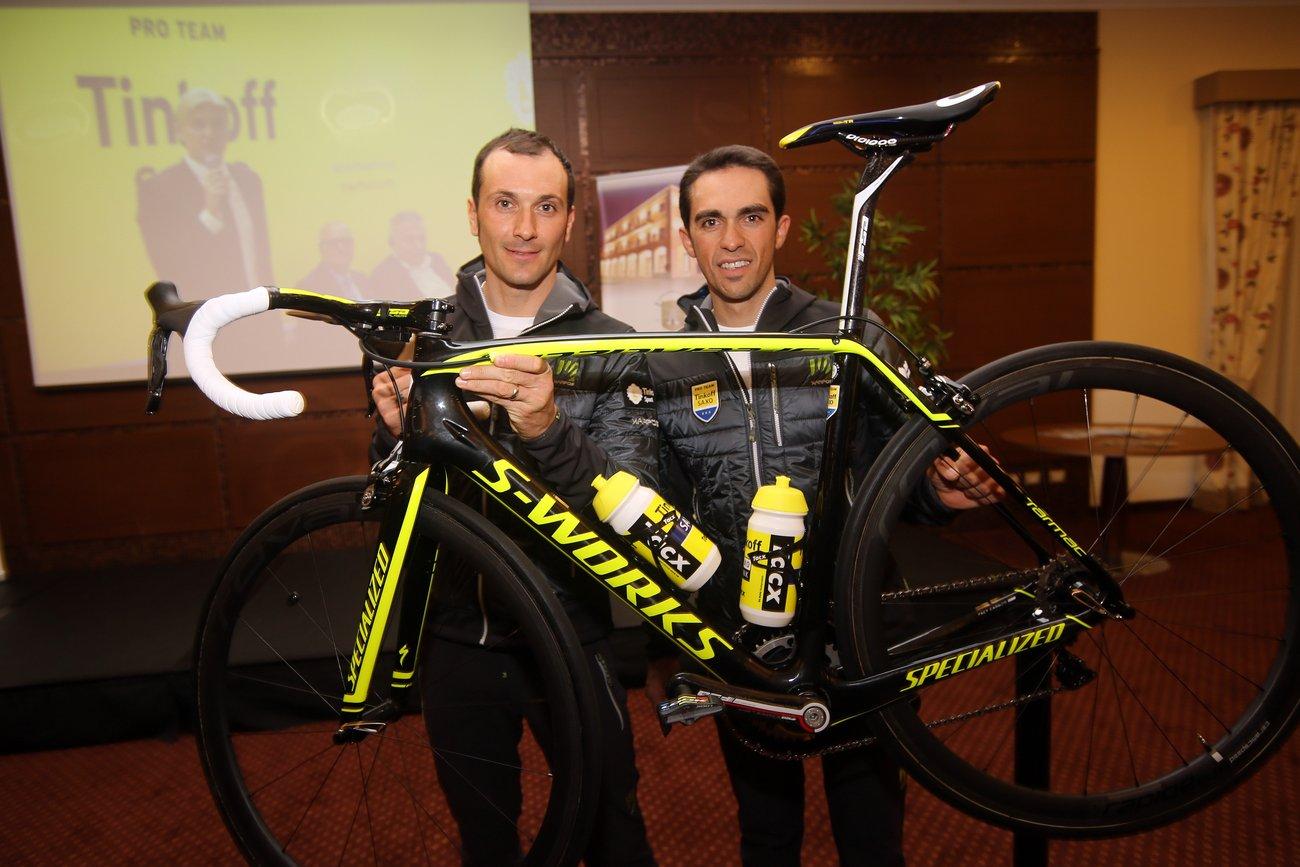 Ivan Basso und Alberto Contador. (Foto: Luca Bettini)