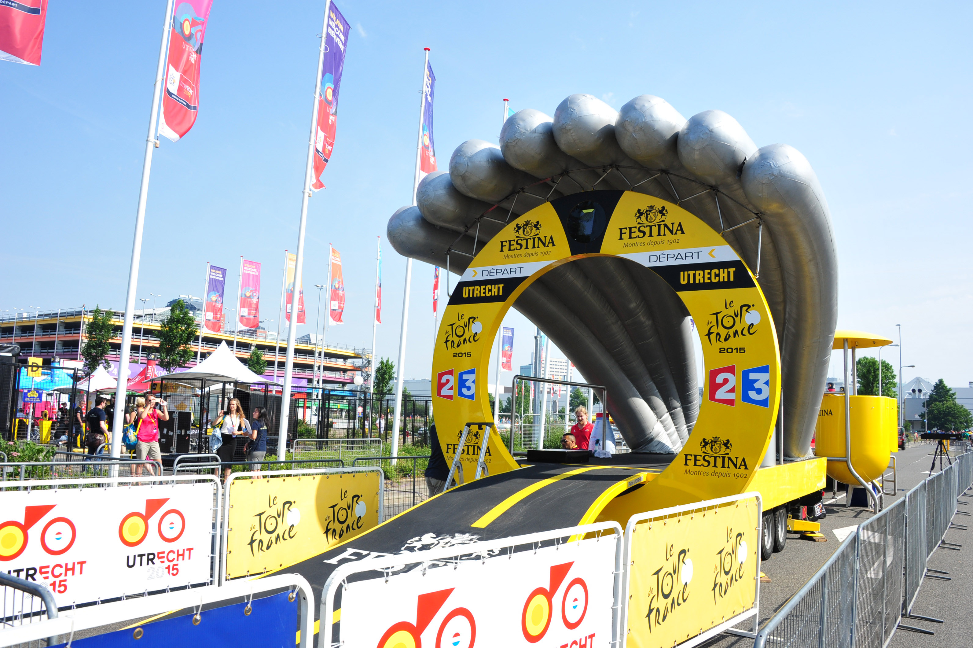 Tour de France 2015 Start der ertsen Etappe