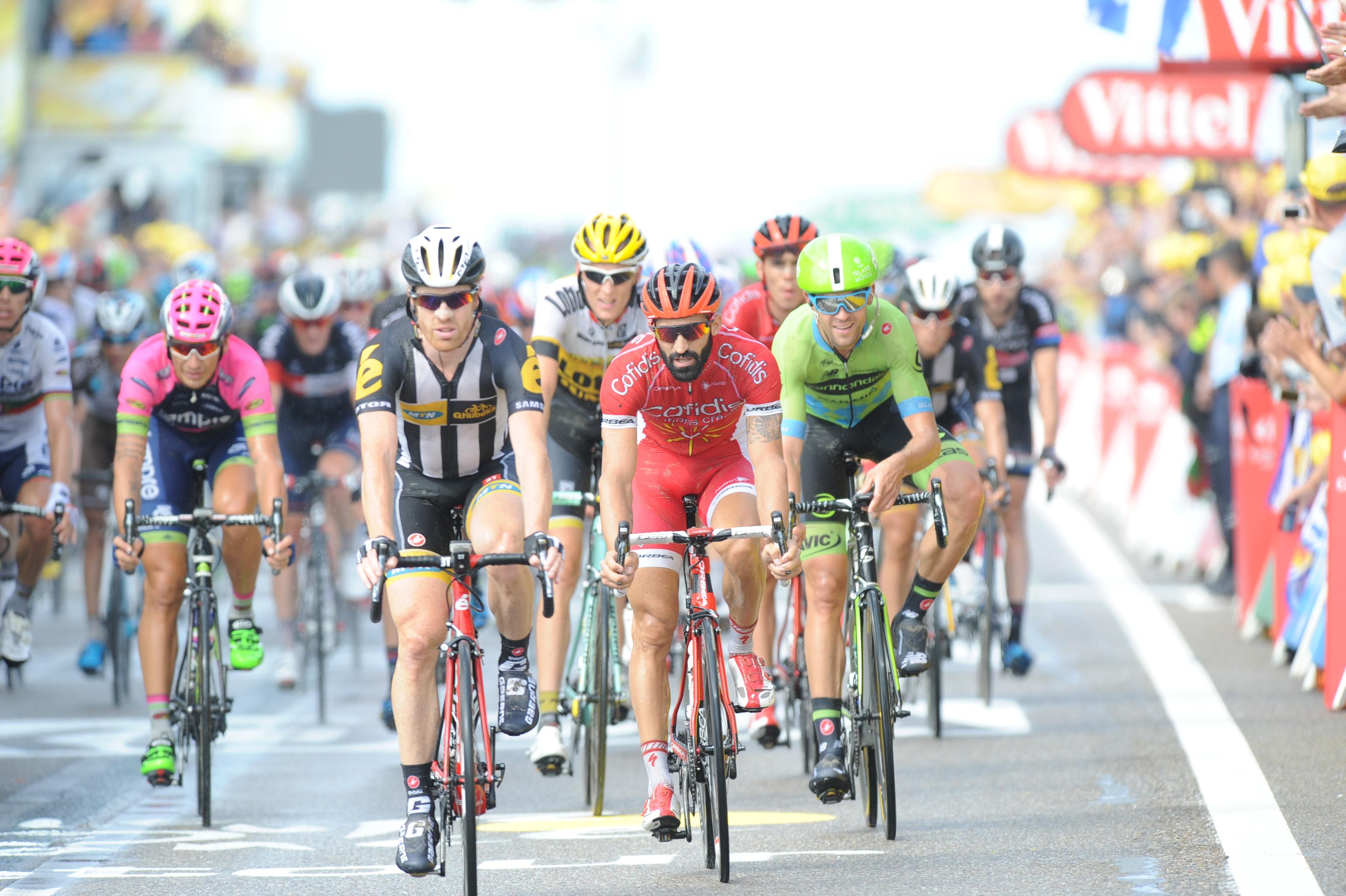Eindrücke der 2. Etappe der Tour de France 2015.