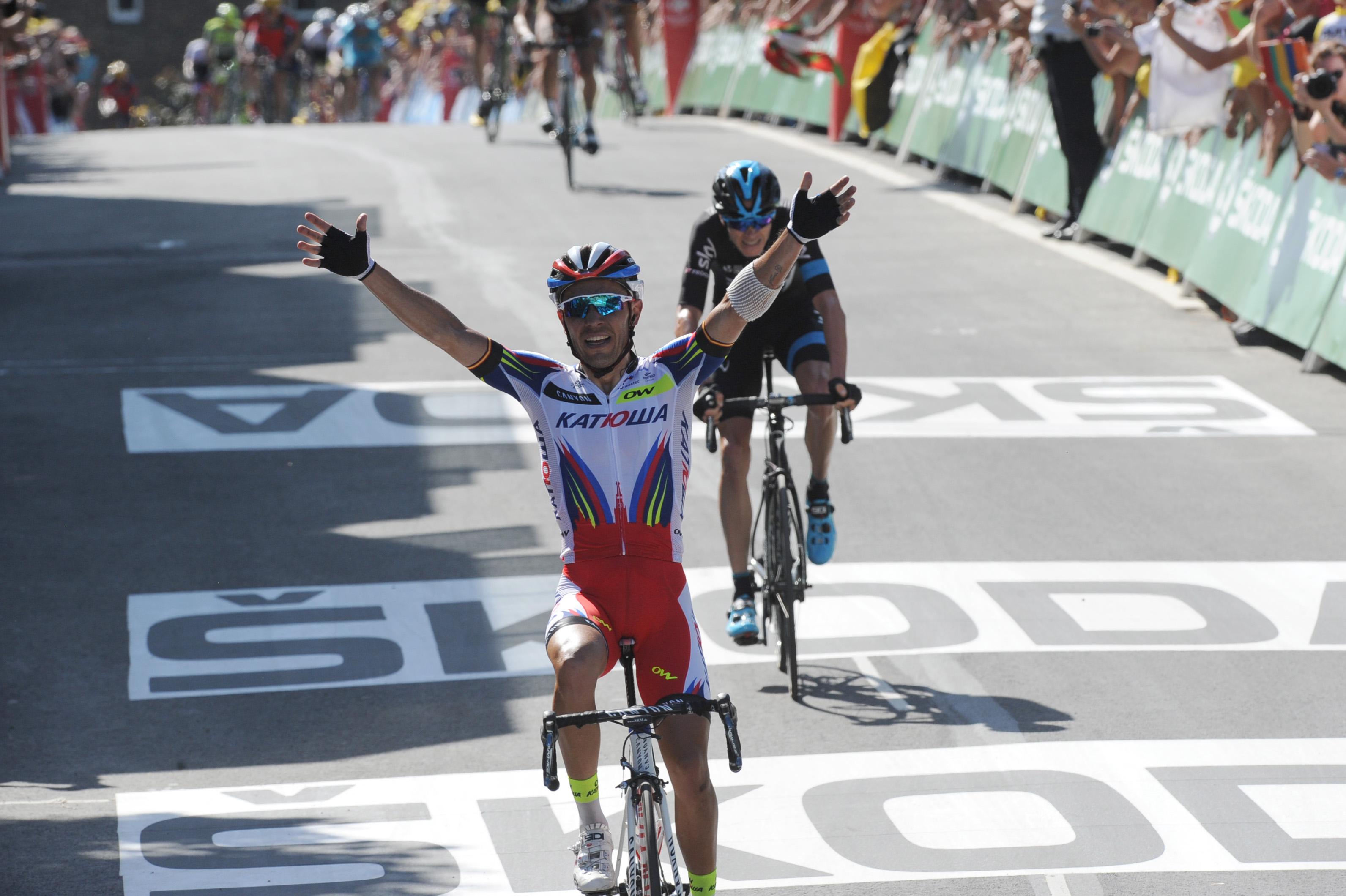 Joaquim Rodriguez gewinnt die 3. Etappe der Tour de France 2015. (pic: Sirotti)