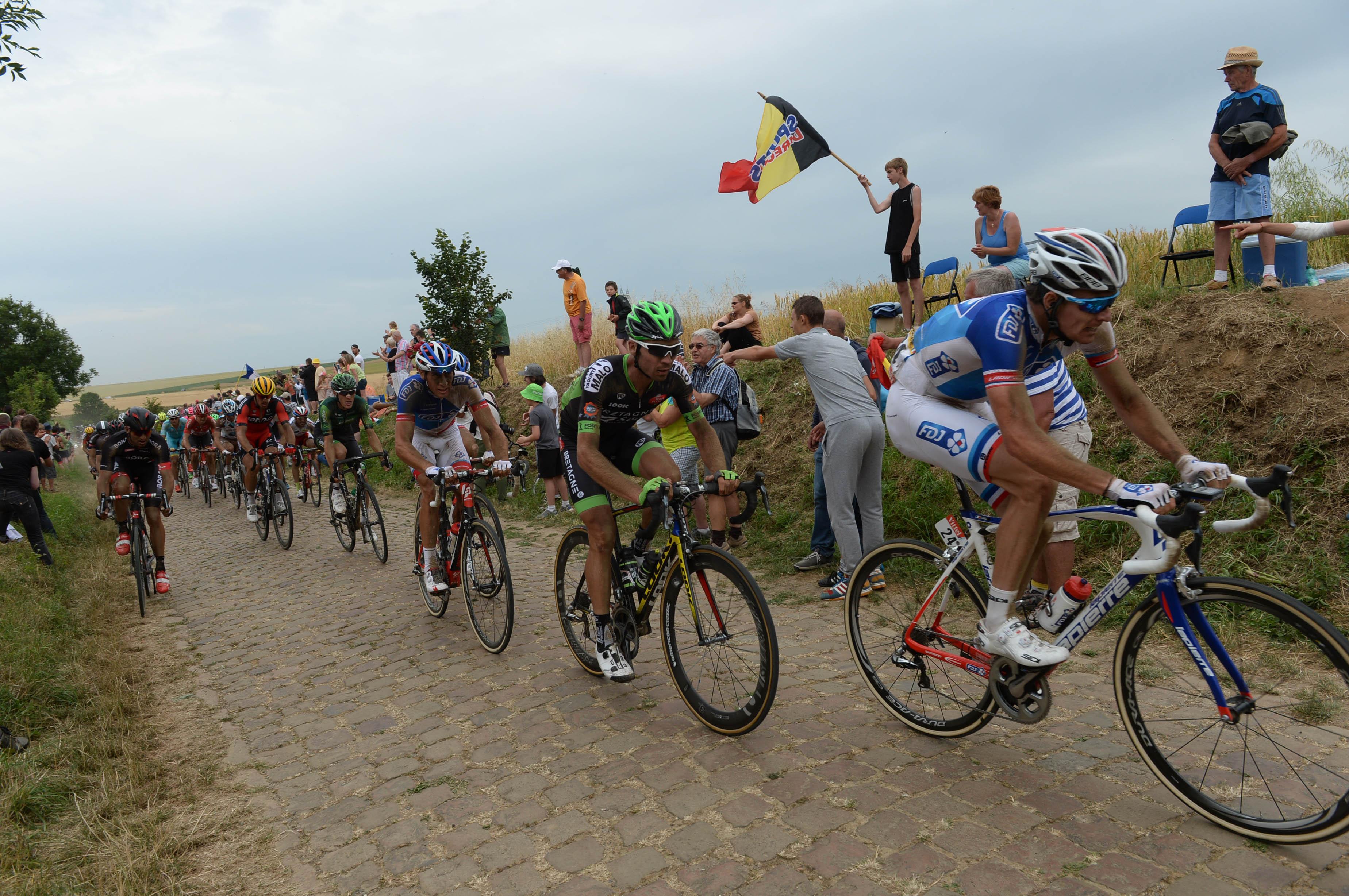 Kopfsteinpflaster der 4. Etappe der Tour de France 2015. (pic: Sirotti)