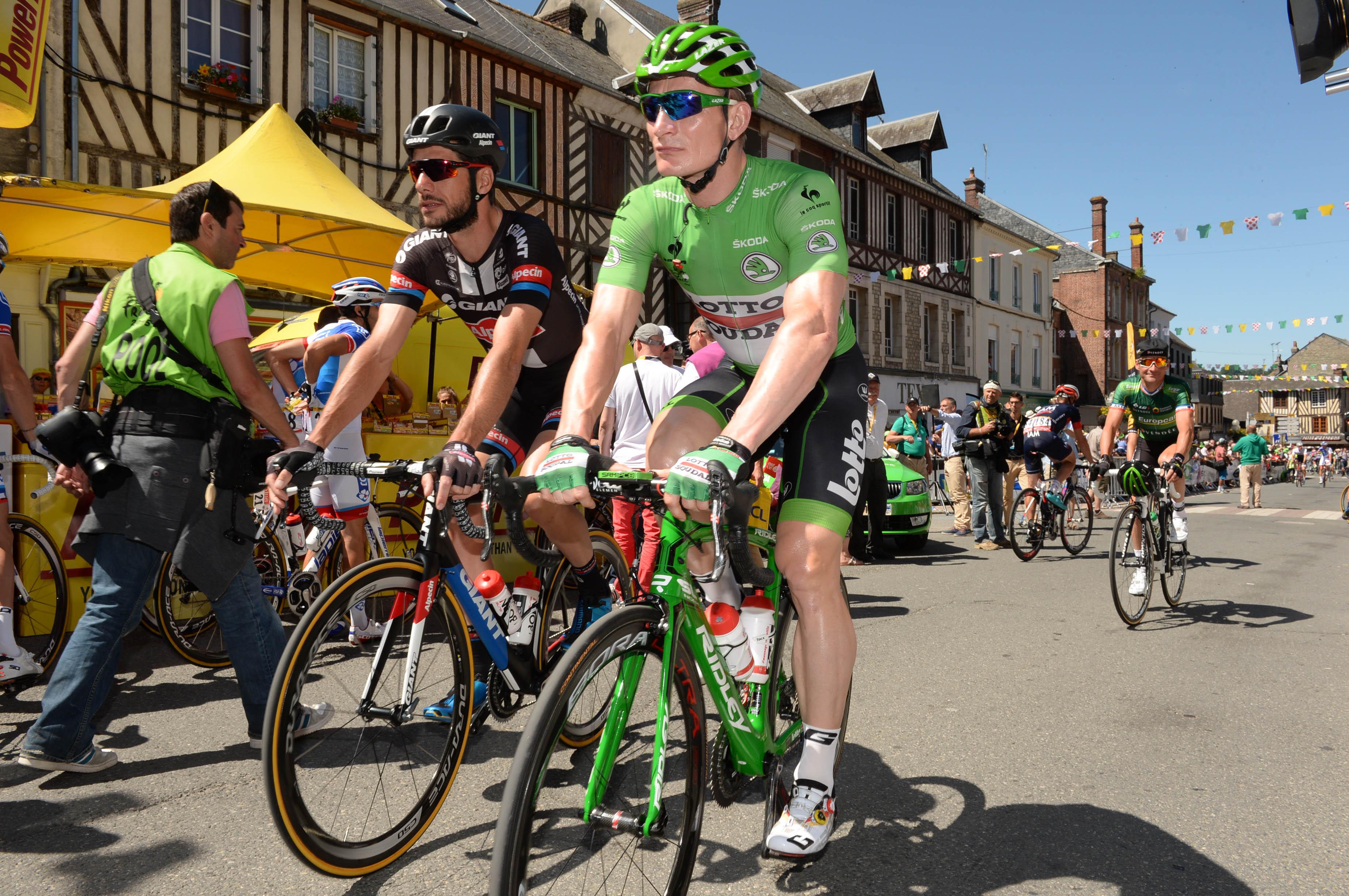 Tour de France 2015 - 7. Etappe - Andre Greipel verteidigt sein grünes Trikot. (pic: Sirotti)