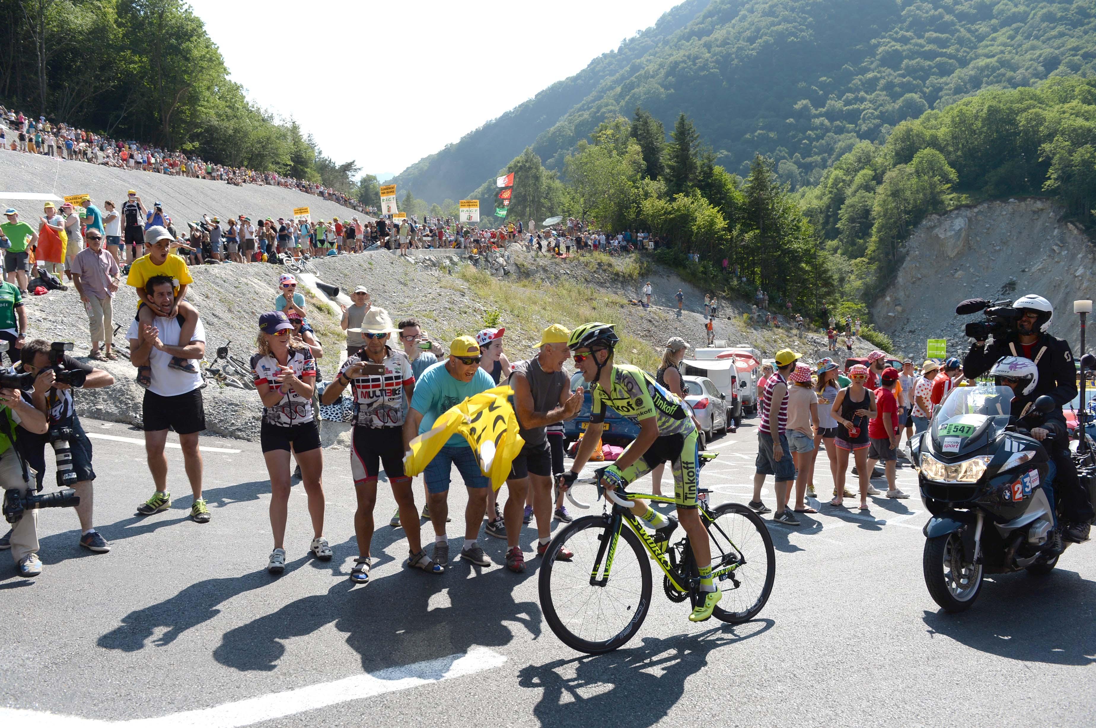Rafal Majka gewinnt die 11. Etappe der Tour de France 2015.