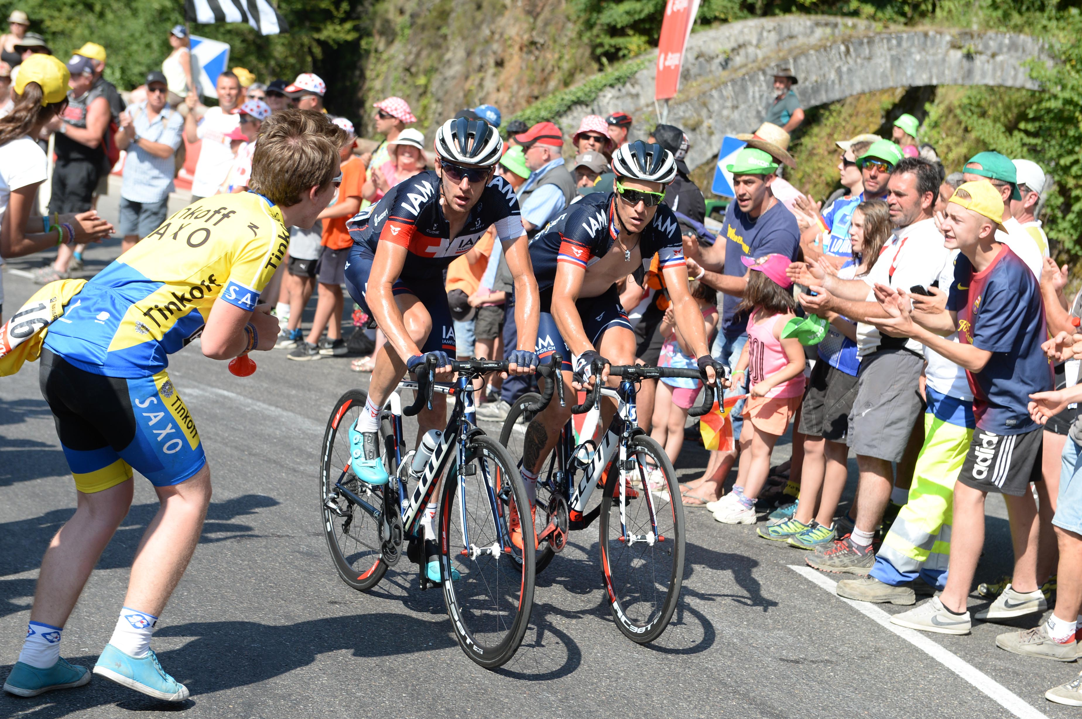 Tour de France 2015 - 11. Etappe - Sylvain Chavanel und Stef Clement.